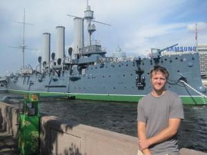 Aaron Eisenbarth and the Russian cruiser Aurora