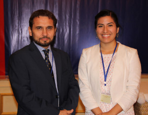 Michele Cantos (right) as ISU Symposium in Bangkok, Thailand