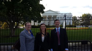 Robertson Foundation Fellows Allison Carter Olsen, Tracie Hatch and Justin Gradek at the White House.