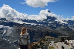 Sarah White in front of the Matterhorn.