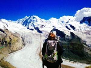 Tulia Gattone in Gornergrat (3,100 m), Switzerland
