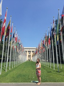 Nara Kim, at the UN Headquarter, in Geneva