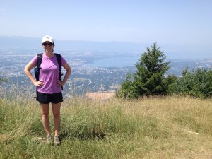 Kara Coughlin above Lake Geneva