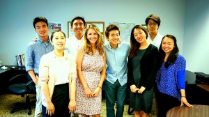 Jane Chung (far right) with colleagues at US Korean Institute