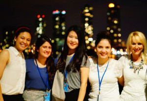 Yibing Tang, with other Maxwell interns at UN headquarters.