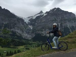 Ngoc Hong Le traveling in Jungfrau mountain region