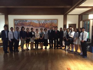Kim Hyunjong ,other interns and researchers in Korean Ambassador's residence