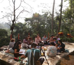 Subang, West Java- Taking notes during a site visit to Micro-hydro Power House and Cooperative PLTMH Cinta Mekar, realized by Washington D.C. MCC delegation to discuss with IBEKA, GP Window 2 grantee, and cooperative members regarding community-based renewable energy implementation