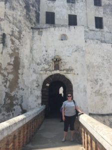 During a long weekend, I had the chance to visit Cape Coast and Elmina Castles, both of which played a pivotal role in the trans-Atlantic slave trade. This is me in front of Elmina after a tour of the castle, including the horrifying slave dungeons and the haunting 'door of no return.'