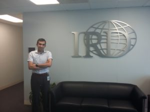 Vahid Khatami at IRD headquarters in Washington, DC