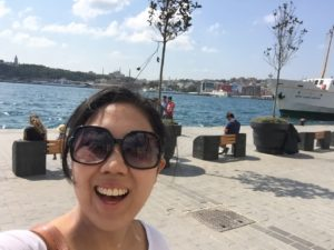 Emily Ma at the Bosphorus in Istanbul, Turkey