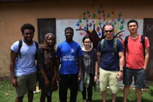 Francis Morency, Hatou Camara, community volunteer, Alison Rivera, Sam Connors, & Jinpu Wang