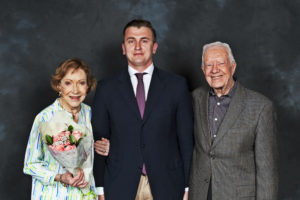 Oleksiy Anokhin with Former President Jimmy Carter and Former First Lady Rosalynn Carter