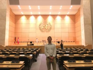Ivan Zhivkov in UN Assembly, Geneva