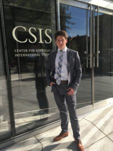 Mikhail Strokan at CSIS' front door