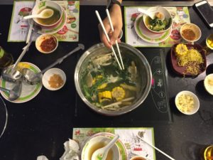 Phivear, the sister of a classmate from Phnom Penh, introduced me to her favorite spot for hotpot.