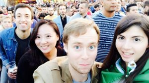 Ivan Zhivkov, Suhyeon Lee, James Murray, and Maria Chiara Vinciguerra at a festival