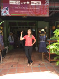 In front of Ten Thousand Villages, Phnom Penh