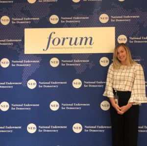Leah Knobel at the National Endowment for Democracy