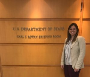 Emma Diltz, Department of State, Press Brieffings room