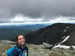 Laura Turner in the White Mountains of New Hampshire thinking of Nepal