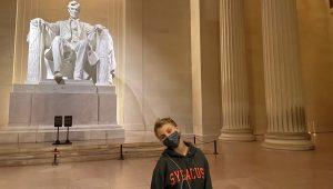 Yuliia Popyk, Lincoln Memorial